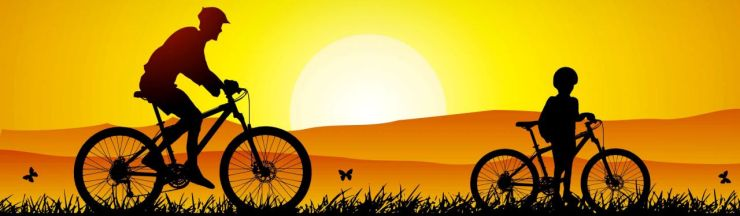 dad-and-son-bicycle-riding-silhouette-at-sunset-blog-header